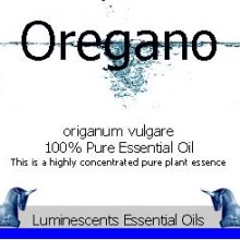 oregano essential oil label