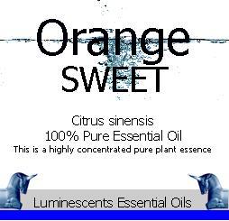 sweet orange essential oil label