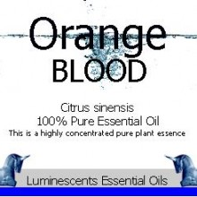 blood orange essential oil label