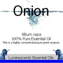 onion seed essential oil label