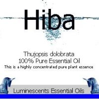 hiba essential oil label