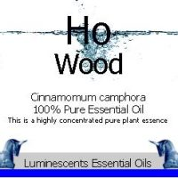 ho wood essential oil label