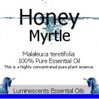 honey myrtle essential oil label