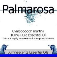 palmarosa essential oil label
