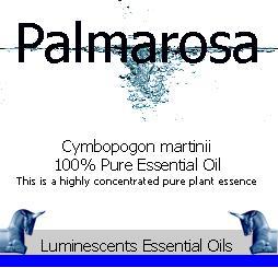 palmarosa essential oil label