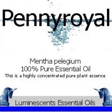 pennyroyal essential oil label