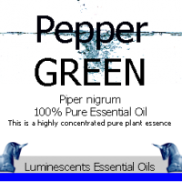 Green Pepper essential oil label
