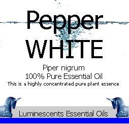 white pepper essential oil label