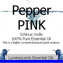 pink pepper essential oil label