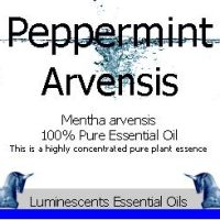 peppermint essential oil label