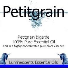 petitgrain essential oil label