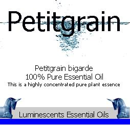 petitgrain essential oil label