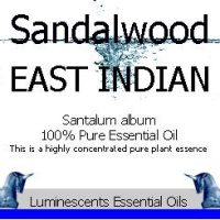 sandalwood east indian essential oil label
