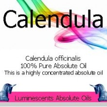 calendula absolute oil label