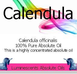 calendula absolute oil label