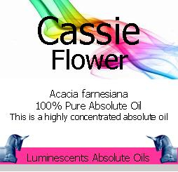 cassie Flower Absolute Oil Label