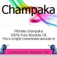 champaka absolute oil label