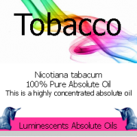 Tobacco absolute oil label