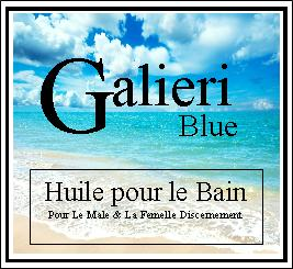galieri blue bath oil