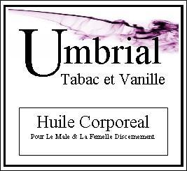 Umbrial Tabac et Vanille Body Oil