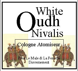White Oudh Nivalis cologne atomiseur