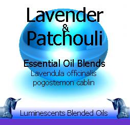lavender and patchouli blended essential oils