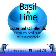 basil and lime blended essential oils