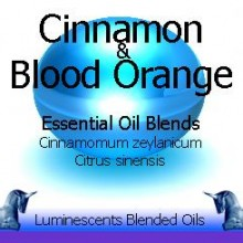 cinnamon and blood orange blended essential oils