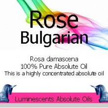 Rose Bulgarian Absolute Oil label