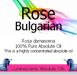 Rose Bulgarian Absolute Oil label