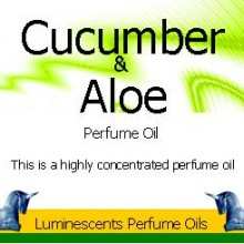 Cucumber and aloe perfume oil