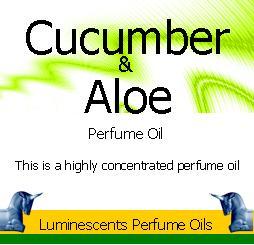 Cucumber and aloe perfume oil