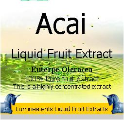 Acai liquid fruit extract