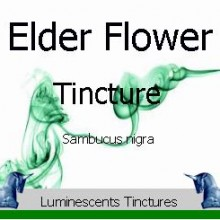 Elder Flower Tincture label