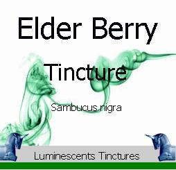 elder berry tincture label