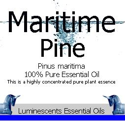 maritime pine essential oil label