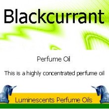 blackcurrant perfume oil label