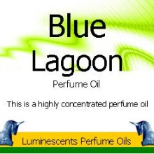 Blue Lagoon Perfume Oil label