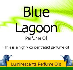 Blue Lagoon Perfume Oil label