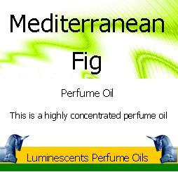 mediterranean fig perfume oil label