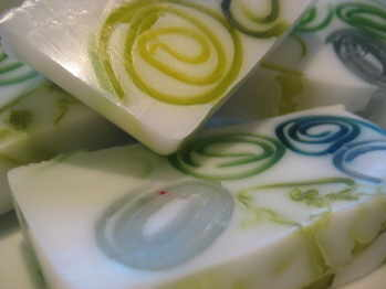 green tea and balm mint soap