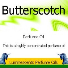 Butterscotch Perfume Oil Label
