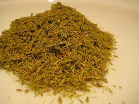 Savine cut herb