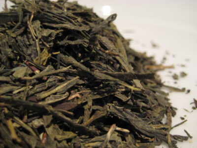 China-Green-Sencha-leaves