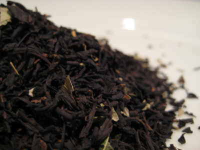 black cherry flavoured black tea leaves