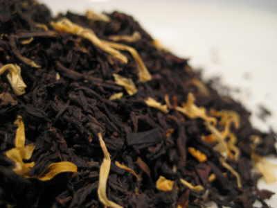 mango flavoured black tea leaves