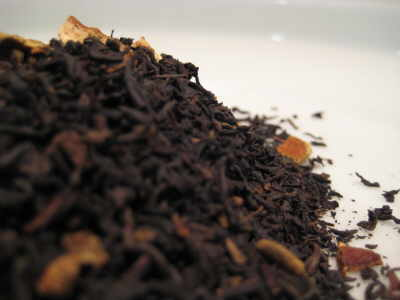spiced orange black tea leaves