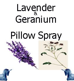 Lavender and geranium pillow spray
