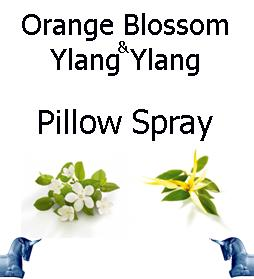 Orange Blossom and ylang ylang pillow spray